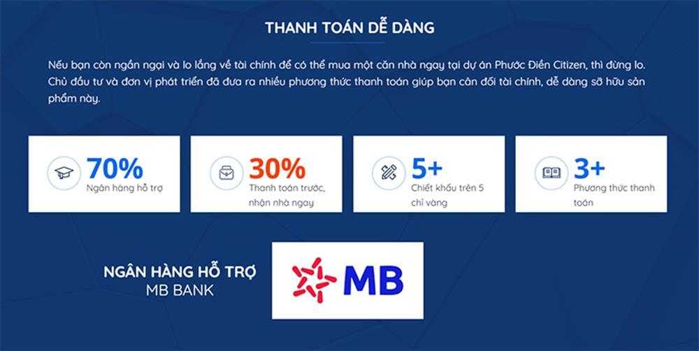 Dự án Phước Điền Citizen hỗ trợ khách hàng sở hữu dễ dáng