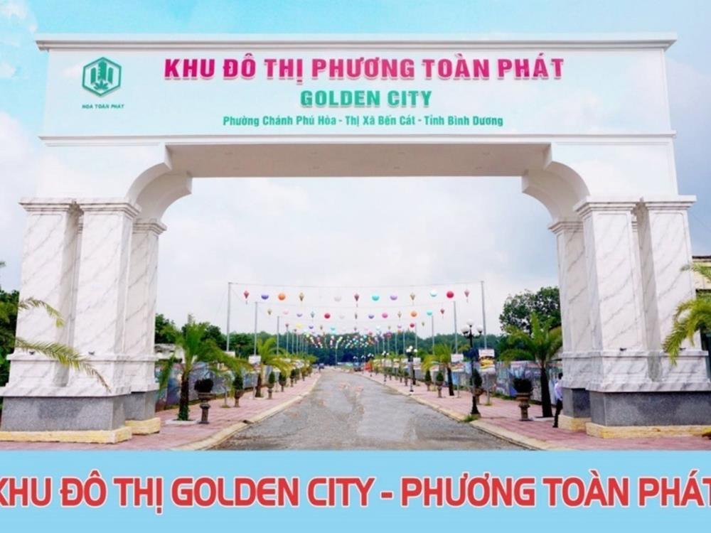 Hình ảnh thực tế cổng dự án khu đô thị Phương Toàn Phát