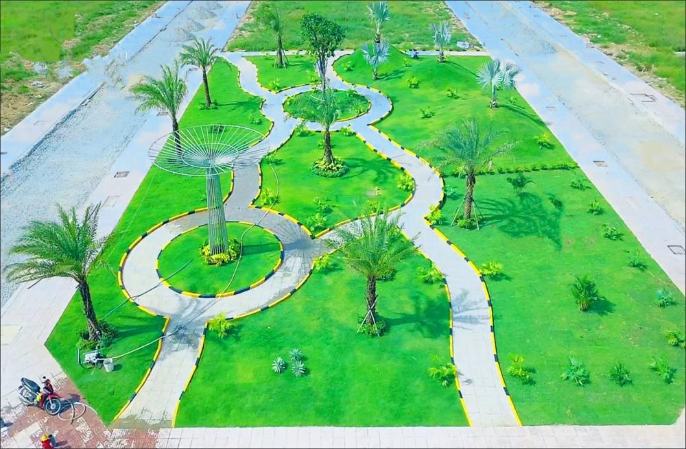 Hệ thống công viên cây xanh khu đô thị Phương Toàn Phát đã hoàn thiện 100%