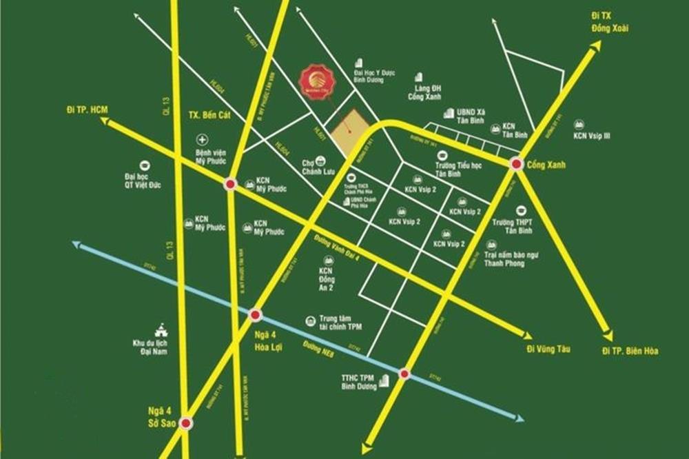 Sơ đồ vị trí vàng khu đô thị Phương Toàn Phát