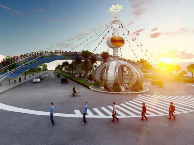 Phối cảnh cổng khu công nghiệp Ledana Bình Phước